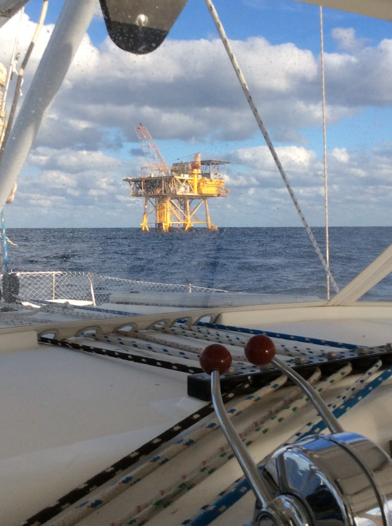 We counted 26 rigs within eyesight at one point. If anyone tells you there's no offshore drilling going on, they're crazy!
