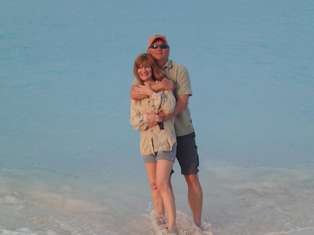 Tom & Diane McHugh enjoying the beautiful beaches of Treasure Cay