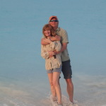 Tom & Diane McHugh enjoying the beautiful beaches of Treasure Cay