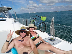 Happy New Year from Michelle and Clark aboard Double Wide!