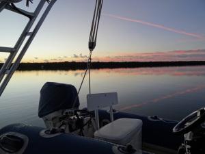 Sunrise at Dinner Key Mooring Field.