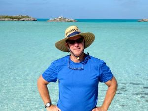 Clark at Shroud Cay - How about that hat!!??