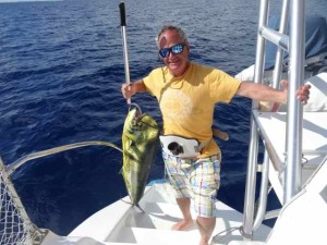 45-50 Foot Mahi caught by Tim Clipson in the Atlantic near Compass Cay Cut