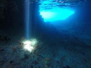 Sun Beam at Rocky Dundas Grotto