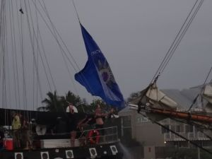 When it was all said and done, the Conch Flag was still waiving proudly on the stern of SV Hindu